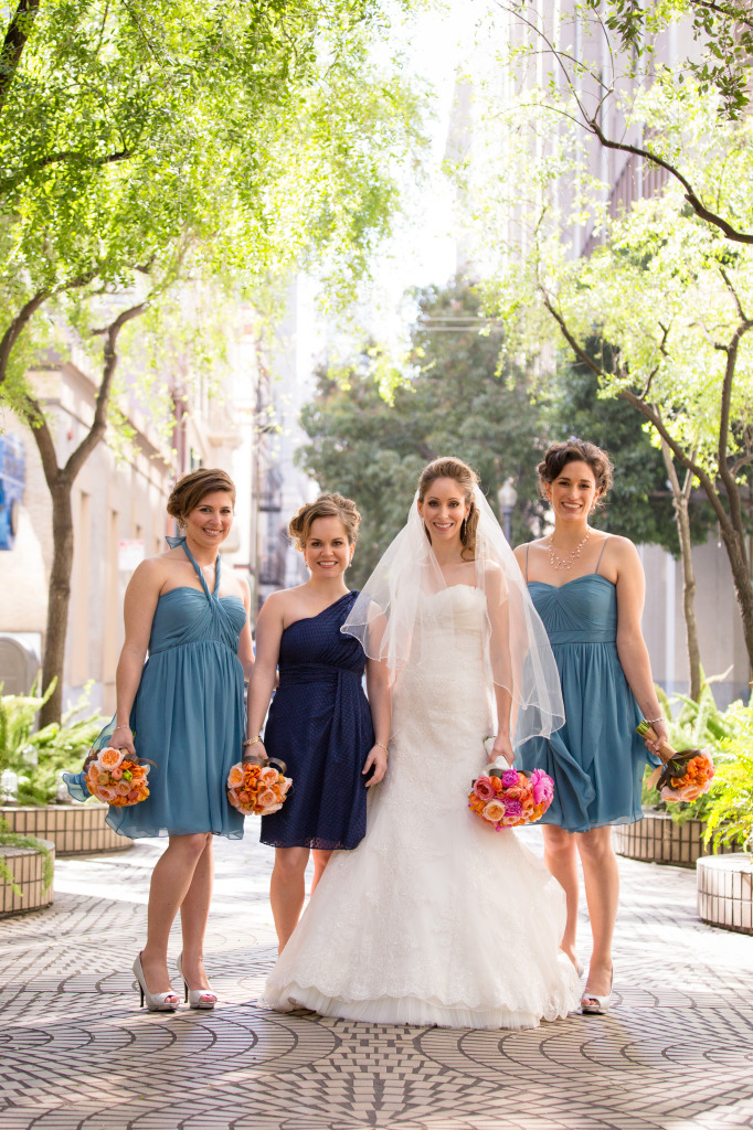Emily and her bridesmaids